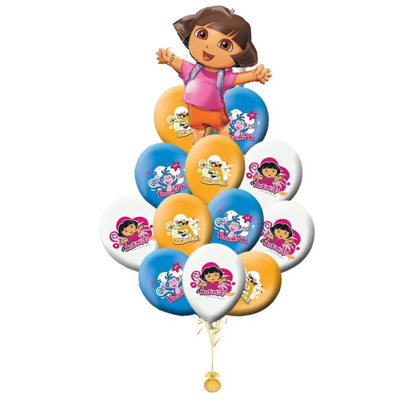 Букет «Даша»  из воздушных латексных шаров  и 1 фигуры