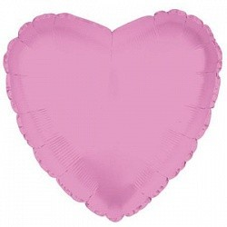 Фольгированный Сердце, Розовый.