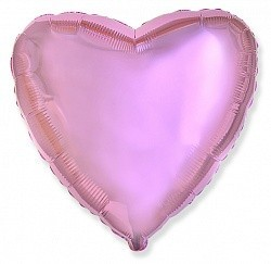 Фольгированный Сердце, Светло-розовый.