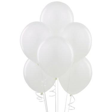 Воздушные шарики белый пастель