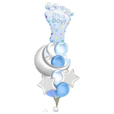 «Подарок для малыша» из 19 шаров на рождения
