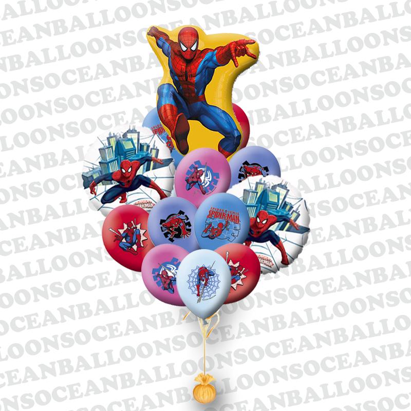Букет из 23 гелиевых шариков «Человек паук»