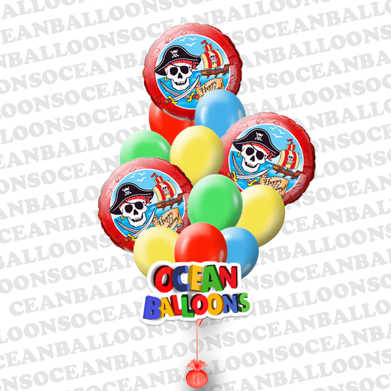 """Букет Пиратская тортуга"""" из 18 шаров"""
