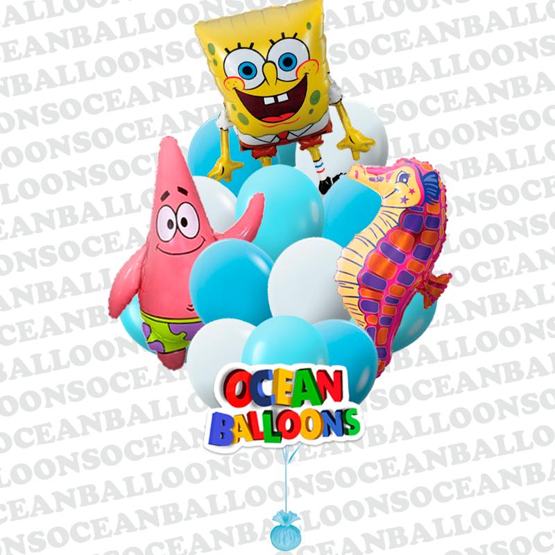 Букет из воздушных шаров «Спанч Боб и его друзья»