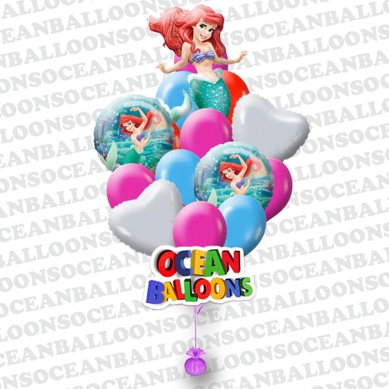 Букет «Русалочка» из 21 шаров