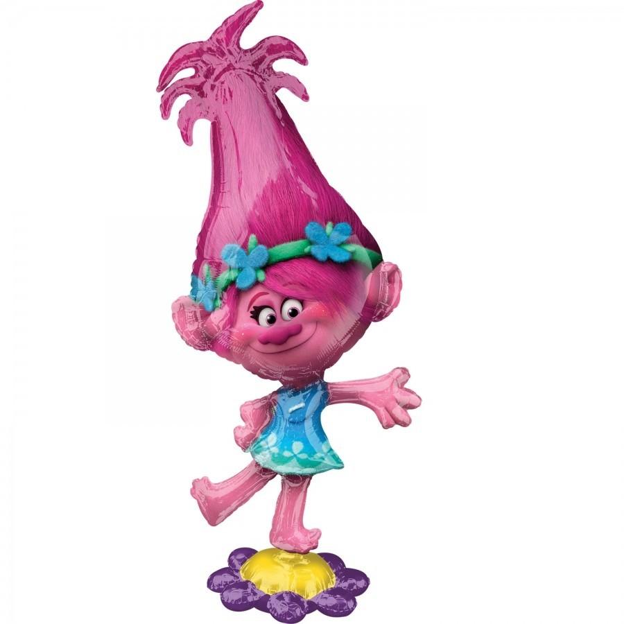 Ходячая фигура шар Тролли Розочка