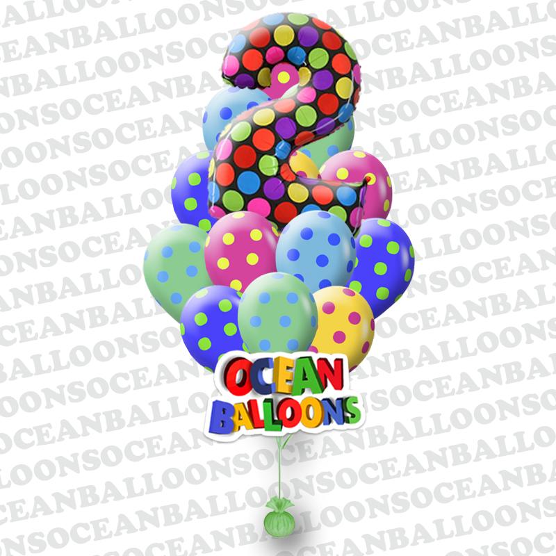 «Разноцветные поздравления» разноцветные воздушные шары