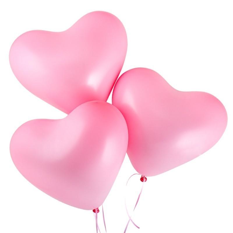 Латексный воздушный шар-сердце Розовый