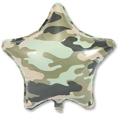 Фольгированная Звезда - Камуфляж на День защитника Отечества