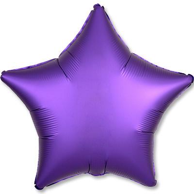 Шар Звезда, Фиолетовый, Сатин.