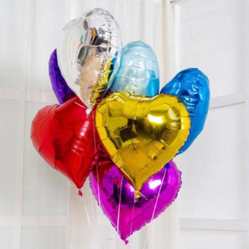 Свадебные фольгированные воздушные шары сердца