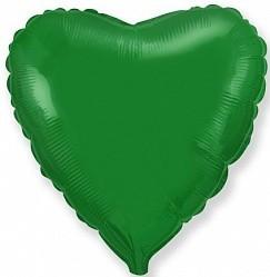 Фольгированный Сердце, Зеленый.