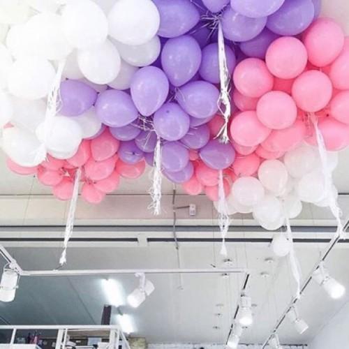 Гелиевые шары под потолок 3 цветов
