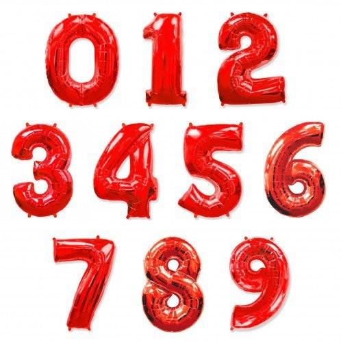Шар фигура цифры красные