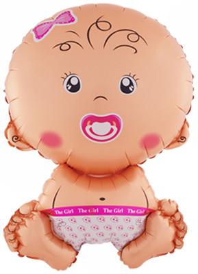 Шар Фигура, Малышка девочка, Розовый.