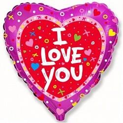 Шар (Сердце, Я люблю тебя, Красный