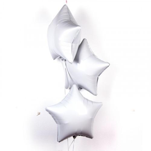 Фольгированные звезды белые