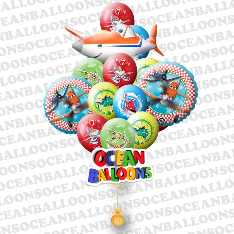 Букет «Самолет» из 28 воздушных шаров