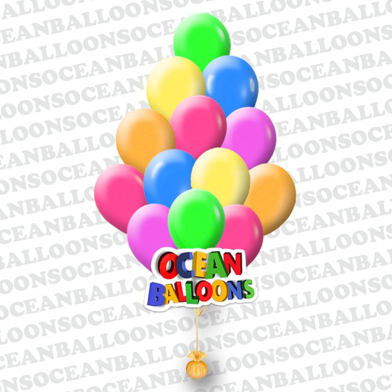 Яркие неоновые воздушные шарики