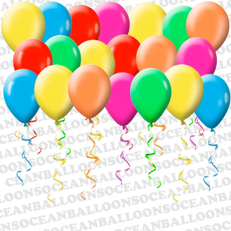 Разноцветные воздушные шары на 1 сентября