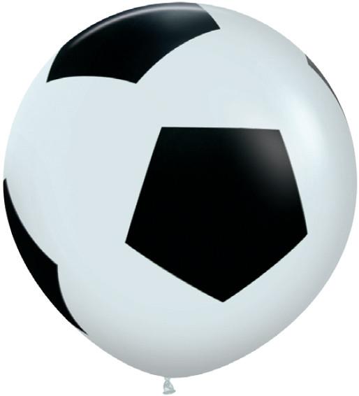 Шар большой Футбольный мяч, Белый