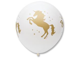 Большой шар Единорог белый