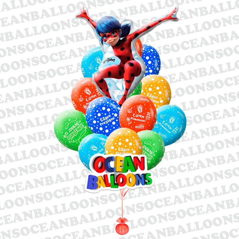 Воздушные шары «Неудержимая Леди Баг»