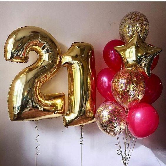 Готовая композиция на день рождения 21 Летия