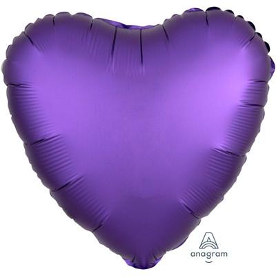 Шар сердце Сатин Purple Roayle