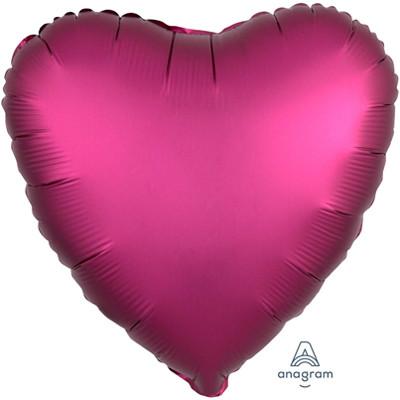 Шар сердце Сатин Pomegranate