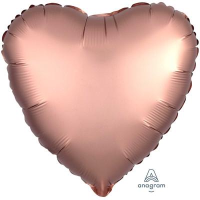 Шар Сердце Сатин Rose Copper