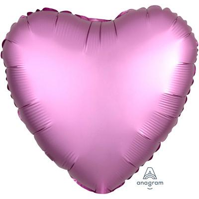 Шар Сердце Сатин Flamingo