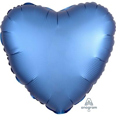 Шар Сердце Сатин Azure