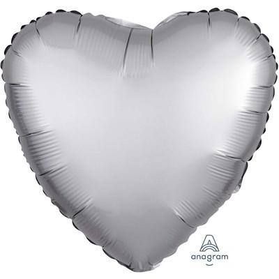 Шар Сердце Сатин Platinum