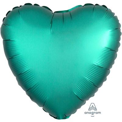 Шар Сердце Сатин Jade