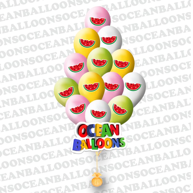 Облако из 25 шариков Арбузы