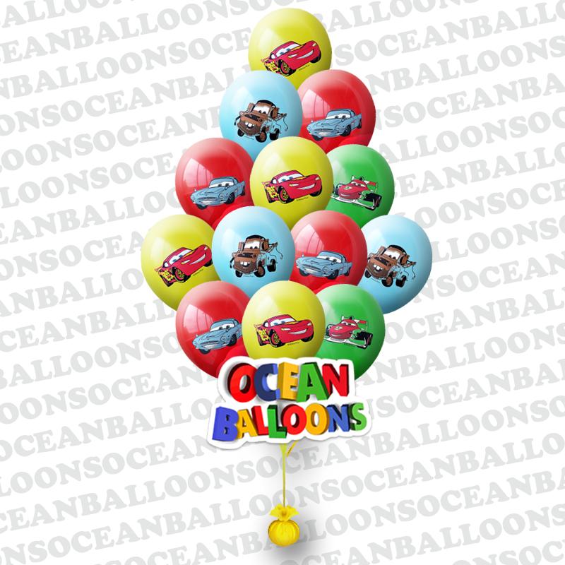Гелиевые шары «Герои мультика тачки»