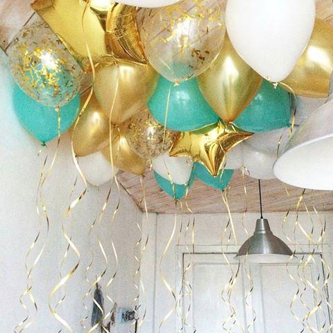 Готовое решение Гелиевые шарики под потолок на Праздник