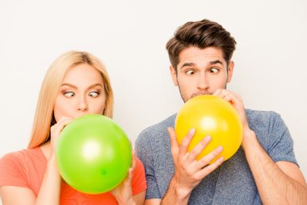Как связать шарики между собой
