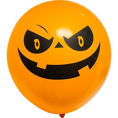 Шар с рисунком Тыква Улыбка на Хеллоуин