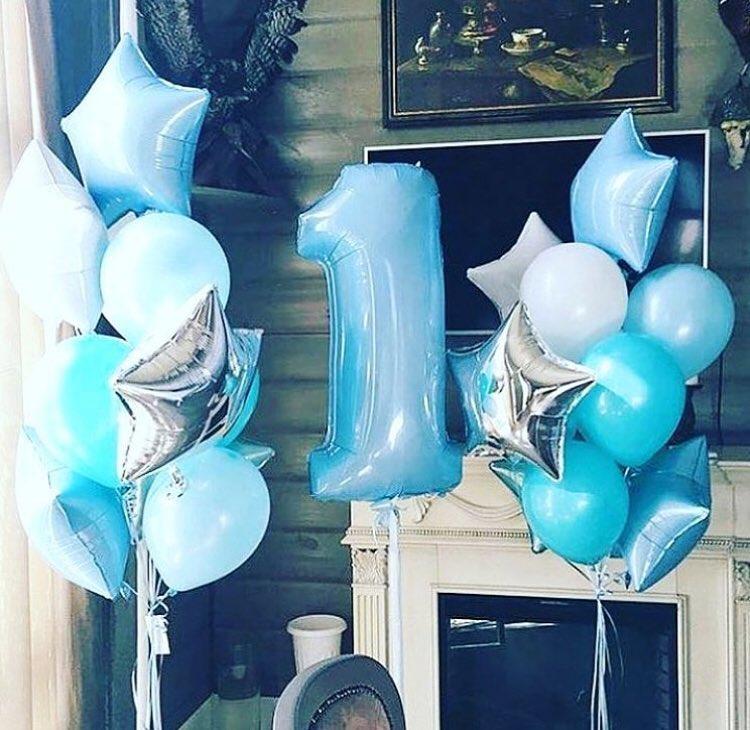 Воздушные шары на 1 год мальчику