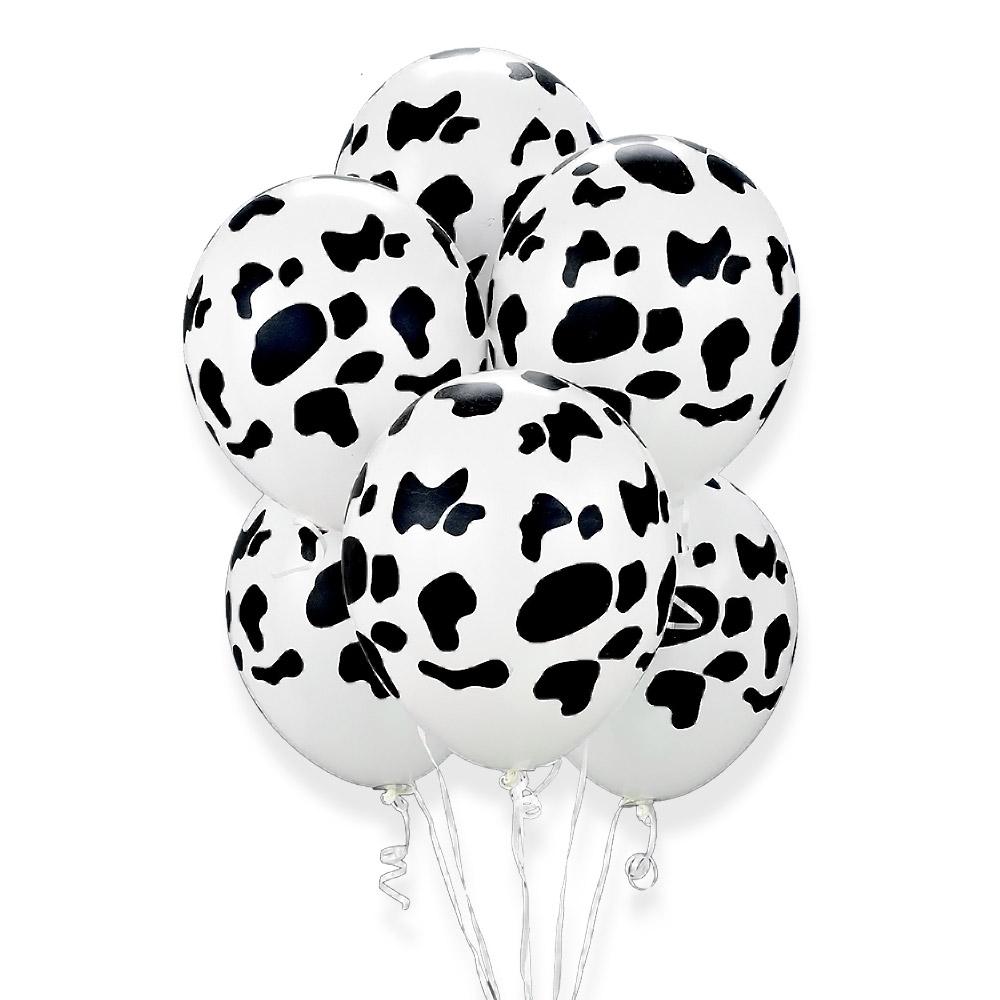 Гелиевые шарики Пятна, Белый