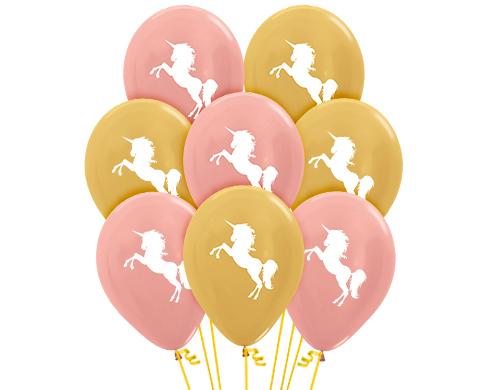 Гелиевые шарики  Единорог, Розовое золото