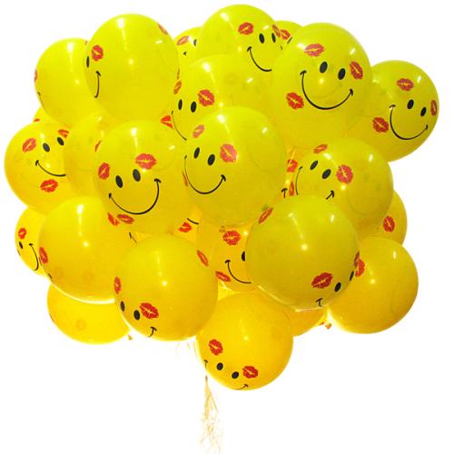 Веселые Поцелуйчики букет из воздушных шаров 41 шт.