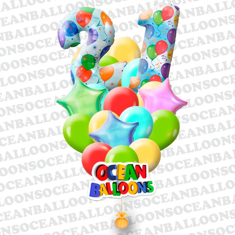 Букет «Подарок Юбиляру!» из 30 шаров