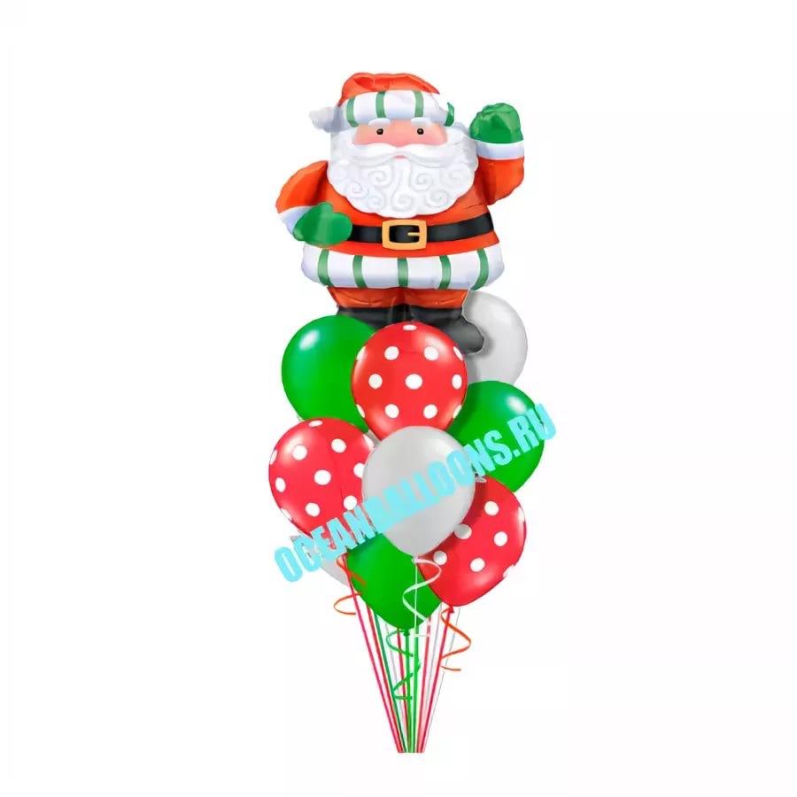 Букет «Поздравление от Санты 2» из 21 шаров