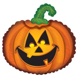 Шарики на Хэллоуин Счастливая тыква, Оранжевый.