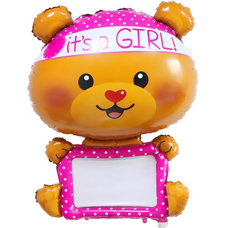 Шар Фигура, Для надписей (мишка-девочка) с маркером.