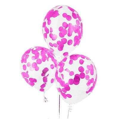 Гелиевые шары с конфетти розовые