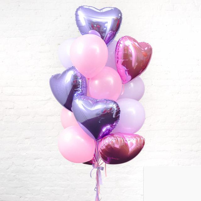 Готовое решение для любимой из 25 гелиевых шаров